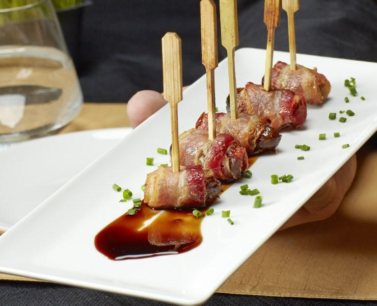 Bacon Wrapped Date